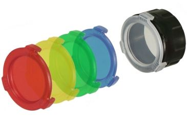 Leapers UTG 42mm Five Color Flashlight Lens Filters RB-CVF42