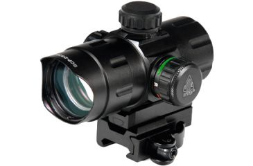 Leapers UTG 5th Gen 4in ITA Red/Green Dot Sight w/ 2 QD Mounts SCP-DS3840W