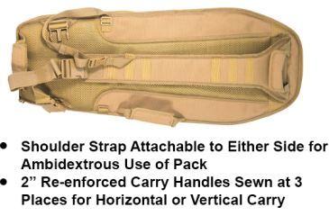 Leapers UTG Alpha Battle Carrier Sling Pack 34in Multi-Firearm Case - Dark Earth, PVC-PSP34S