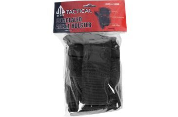 Leapers UTG Concealed Ankle Holster, Black PVC-H190B