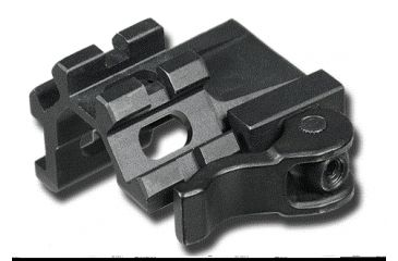 Leapers UTG LE Rated Quad-Rail Single Slot Angle Mount with Integral QD Lever Lock System MAQ012245