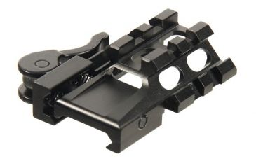 Leapers UTG LE Rated Tri-Rail/2 Slot Angle Mount w/Integral QD Lever Lock System MAT022255