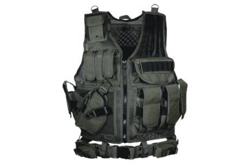 Leapers Deluxe Tactical Vest, Black Left Hand Draw - PVC-V547BL