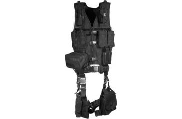 Leapers UTG Modular 10pc Tactical Vest - Black PVC-V747KTB