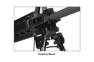 5-Leapers UTG Tactical OP Bipod w/ Picatinny and Swivel Stud Mount