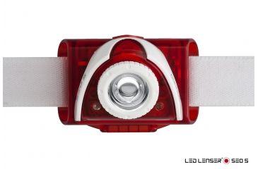 LED Lenser SEO5 Haedlamp, Red 880130