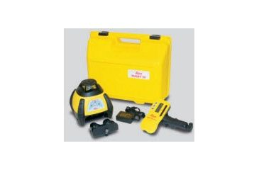 Leica Geosystems 6000736 Rugby 50 GC Construction Laser Package: Rod-Eye Mini, Re-chargeable Batteries
