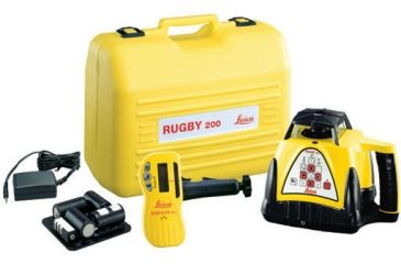 Leica Geosystems Rugby 200 Class IIIa Basic Consrtuction Laser Package with Standard Carrying Case & Re-Chargeable battery 740331