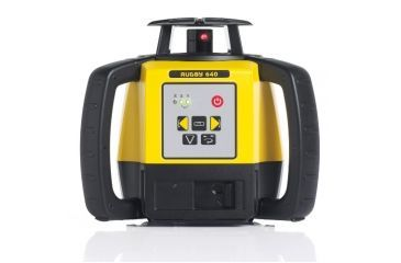 Leica Geosystems Rugby 640, Rotary Laser, Self Levelling, Horizontal, Vertical, 90 Degree, Manual Slope Dual Axis, Yellow/Black 6008620