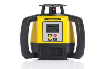Leica Geosystems Rugby 670, Rotary Laser, Self Levelling, Dial In Grade to 8% in Single Axis, Yellow/Black 6008622