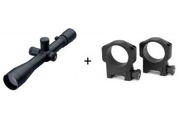 Leupold Mark 4 4.5-14x40mm LR/T Target Riflescope, Mil Dot Reticle,Matte Black 56130 w/ Leupold Mark 4 Riflescope Rings, 30mm,Medium, Matte Black, Aluminum 57398