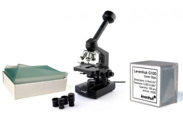 Levenhuk D320L Digital Professional Microscope, Black, with Blank Slides and Cover Slips Set