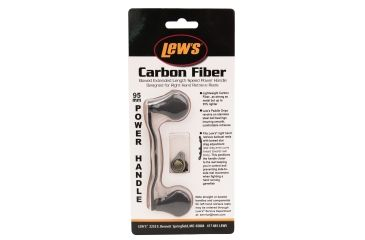 Lew's Bowed 95mm Replacement Fishing Rod Handle, Carbon Fiber, 3.5in. 186578