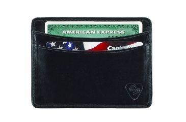 Lewis N Clark RFID Leather Card Holder, Black 931BLK