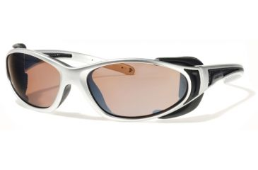Liberty Sport Suns CHOPPERProtective Eyewear Shiny ChromeFrame,Rose Amber Lens, Unisex CHOPPRSCSB6117140DSL