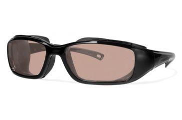 Liberty Sport Suns RIDER DRY EYE Protective Eyewear Shiny Black Frame,Rose Amber Lens, Unisex RIDERDSHBK6017130DSL