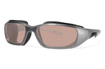 Liberty Sport Suns RIDER DRY EYE Protective Eyewear Shiny Gunmetal Frame,Rose Amber Lens, Unisex RIDERDSHGM6017130DSL