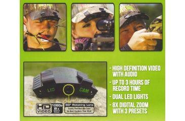 2-Lidcam HD-1 8x Lightweight Action Camera, 1080p