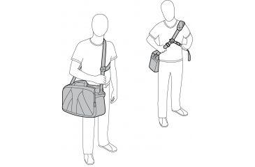 Manfrotto Lino Pro VII Messenger Bag Strap Configurations