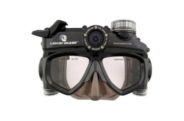 Liquid Image Scuba Series Wide Angle 12MP Waterproof HD Camera Goggles, Black
