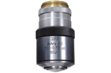 LOMO Objective, Q-Plan Achromat, 50x, 1.00-0.70 N.A., Oil Immersion, Iris, DIN