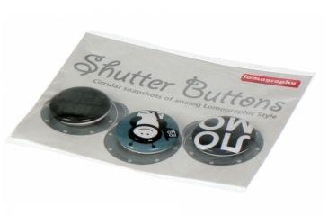 Lomography Button Set 3 b/w smile 453