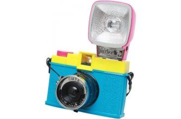 Lomography Camera Diana F+ CMYK (w/ flash) angle