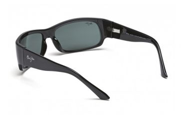 Maui Jim Longboard Sunglasses w/ Smoke Grey Frame and Neutral Grey Lenses - 222-11, Back View