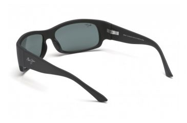 Maui Jim Longboard Sunglasses w/ Matte Black Rubber Frame and Neutral Grey Lenses - 222-2M, Back View
