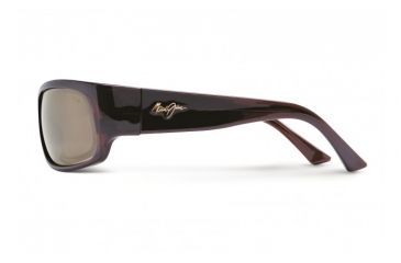 Maui Jim Longboard Sunglasses w/ Rootbeer Frame and HCL Bronze Lenses - H222-26, Side View