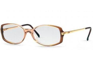 Luxottica Eyeglasses LU4302-M866-5215 with Lined Bifocal Rx Prescription Lenses 52 mm Lens Diameter / Dark Brown Frame