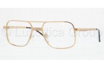Luxottica LU1154T Progressive Eyeglasses, Gold Demo Lens Frame / 54 mm Prescription Lenses, 00GP-5418