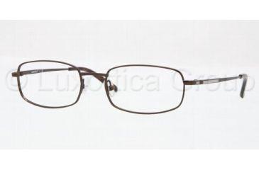 Luxottica LU 6558 Eyeglasses, Brown Frame w/Non Rx 52 mm Diameter Lenses, 3076 5218