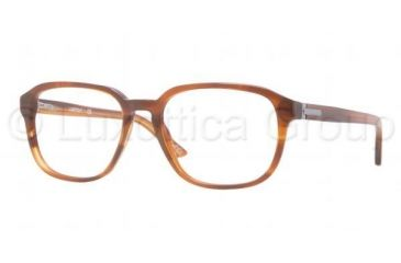 Luxottica LU3207 Progressive Prescription Eyeglasses C226-5218 - Light Striped Havana Frame, Demo Lens Lenses