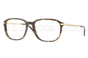 Luxottica LU3209 Single Vision Prescription Eyeglasses C543-5217 - Dark Havana Frame