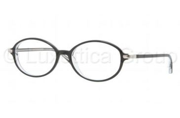 Luxottica LU4334 Progressive Prescription Eyeglasses C388-5316 - Top Black On Transparent Frame