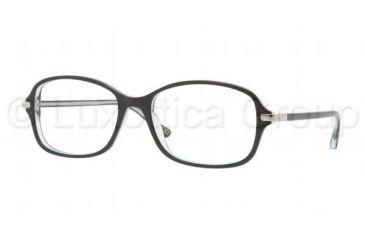 Luxottica LU4335 Eyeglass Frames C388-5317 - Top Black On Transparent Frame