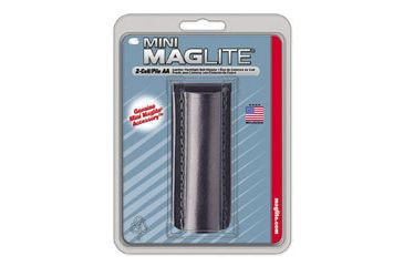 Mag AM2A026 Mini MagLite AA Flashlight Black Plain Leather Holster