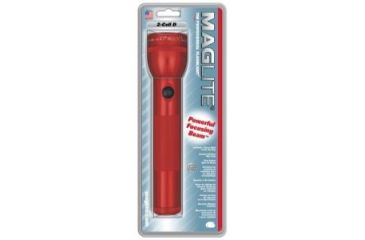 Mag Standard MagLite 2 D Cell Flashlight - Red S2D036