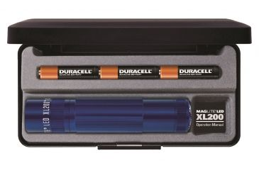 Maglite XL200 3-Cell AAA LED Flashlight, Blue Presentation Box S3117