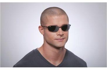 Maui Jim Makaha Sunglasses w/ Gloss Black Frame and Neutral Grey Lenses - 405-02, On Model