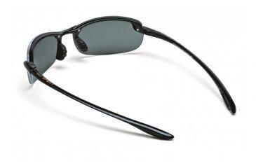 Maui Jim Makaha Sunglasses w/ Gloss Black Frame and Neutral Grey Lenses - 405-02, Back View