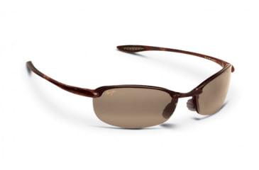Maui Jim Makaha Sunglasses w/ Tortoise Frame and HCL Bronze Lenses - H405-10, Quarter View