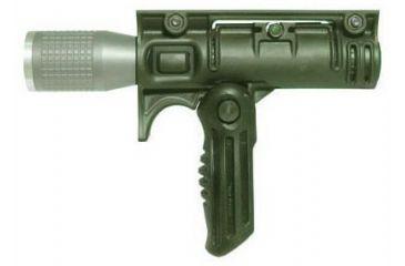 Mako Group Folding Grip w/ 1 1/8 inch Flashlight Adapter - OD Green