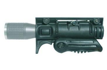 Mako Group Tactical Folding Grip w/ 1 1/8-inch Flashlight Adapter - Horizontal Position