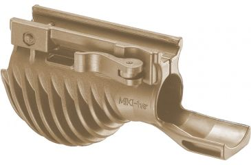 Mako Group Horizontal Tactical Foregrip w/ 1-1/8in Searchlight Adapter, Desert Tan - MIKIT