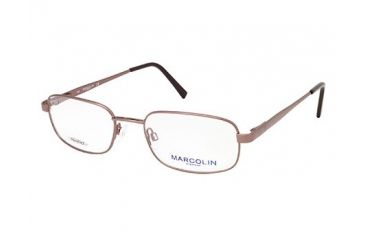 Marcolin MA6810 Eyeglass Frames - Shiny Dark Brown Frame Color