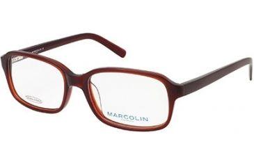 Marcolin MA6811 Eyeglass Frames - Shiny Dark Brown Frame Color