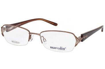 Marcolin MA7299 Eyeglass Frames - Shiny Light Brown Frame Color