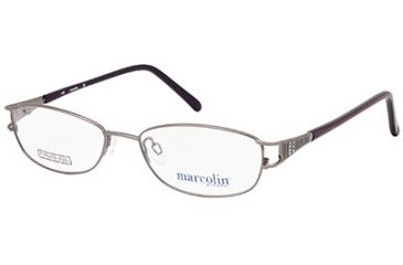 Marcolin MA7301 Eyeglass Frames - Shiny Gun Metal Frame Color